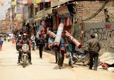 Kathmandu-Stadt, Napel Lizenzfreie Stockfotos