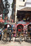 Kathmandu street life. Nepal Stock Photos