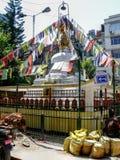 Kathmandu, The Streets of Thamel - Stupa Stock Photo