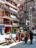 Kathmandu, The Streets of Thamel Royalty Free Stock Photos