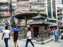 Kathmandu, The Streets of Thamel Stock Image