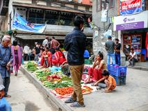 Kathmandu, The Streets of Thamel Stock Photos