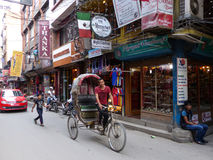 Kathmandu, The Streets of Thamel Stock Photography