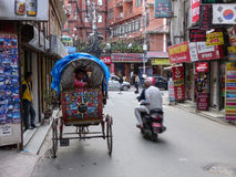Kathmandu, The Streets of Thamel Royalty Free Stock Photography