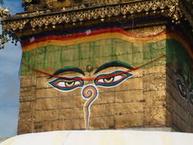 kathmandu stupaswayambhunath royaltyfria bilder