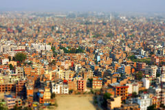 Kathmandu tilt-shift Royalty Free Stock Image