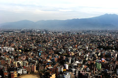 Kathmandu from top eye view Stock Images