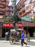 Kathmandu ulicy Thamel Obraz Stock