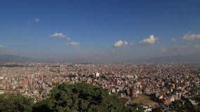Kathmandu valley. The capital city of Nepal. Unplanned urbanization stock video