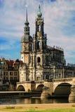 Katholic Hofkirche Drezdeński zdjęcia royalty free
