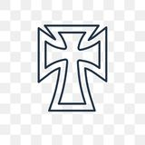 Katholicisme vectorpictogram op transparante achtergrond, lijn stock illustratie