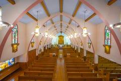Katholiek godsdienstig kruis en altaar Royalty-vrije Stock Afbeeldingen