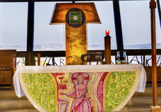 Katholiek Kerkpeter ` s Huis Capernaum Israël Stock Fotografie