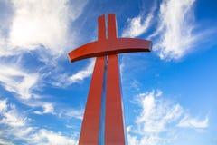 Katholiek kruis op de heuvel in Gdansk royalty-vrije stock afbeeldingen