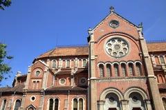 Katholieke Basiliek in Saigon Royalty-vrije Stock Fotografie