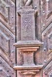 Katholieke Deur Pice van Kerk in Frydlant Royalty-vrije Stock Fotografie