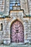 Katholieke Deur van Kerk in Frydlant Stock Fotografie