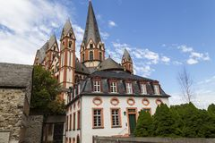 Katholieke Dom van kathedraallimburger, Limburg, Duitsland stock foto's