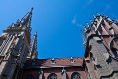 Katholieke kathedraal Stock Afbeelding