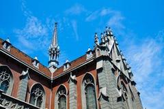 Katholieke kathedraal Royalty-vrije Stock Afbeelding