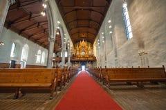 Katholieke kathedraal in de stad van Bergen Royalty-vrije Stock Foto's