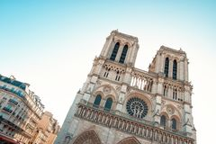 Katholieke Kathedraal van Parijs Royalty-vrije Stock Foto's