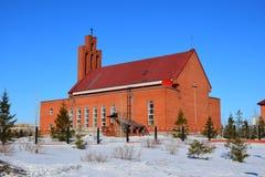 Katholieke kerk in Astana Stock Foto's