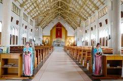 Katholieke kerk bij Chantaburi Provincie, Thailand Stock Afbeeldingen