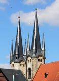 Katholieke kerk in Cheb (Tsjechische Republiek) Stock Foto's