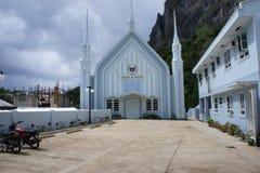 Katholieke Kerk dichtbij de provinciale stad van Gr Nido, Filippijnen stock afbeelding