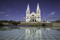 Katholieke kerk - Juni-Festival in ceara-Mirim, RN, Brazilië Royalty-vrije Stock Afbeeldingen