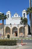 Katholieke kerk in Limassol, Cyprus royalty-vrije stock foto