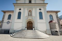Katholieke kerk in marbach, emmentaler entlebuch Zwitserland stock afbeeldingen