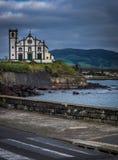 Katholieke kerk in Ponta Delgada royalty-vrije stock afbeeldingen
