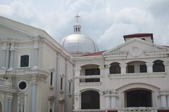 Katholieke kerk in San Fernando, Filippijnen stock afbeelding