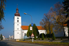 Katholieke kerk in Senica royalty-vrije stock foto's