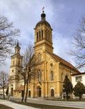 Katholieke Kerk in stad Modra stock afbeelding