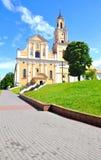 Katholieke kerk van het Vinden van Heilige Dwars en het Klooster van Bernardine in Grodno wit-rusland Royalty-vrije Stock Fotografie