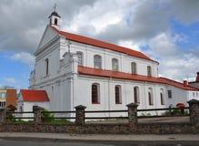 Katholieke kerk van St Michael de Aartsengel in de stad van Novo Stock Fotografie