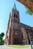 Katholieke kerk van Veronderstelling van Maagdelijke Mary, Palanga, Litouwen Stock Afbeelding
