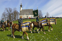 Katholieke paardoptocht Royalty-vrije Stock Foto's