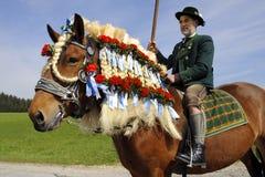Katholieke paardoptocht Royalty-vrije Stock Foto