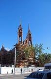 Katholieke tempel Roman Catholic Parish van Heilig Hart van Jesus in Samara Royalty-vrije Stock Foto's