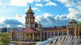 Katholieke Universiteit van Cuenca, Ecuador stock foto's