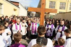 Katholieken in Moskou stock fotografie