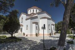 Katholiki Ekklisia Maria Kremasti Rhodes Arkivbilder