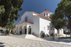 Katholiki Ekklisia Maria Kremasti Rhodes Arkivbild
