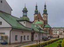 Katholische alte Stadt von Krakau stockbilder