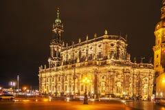 Katholische Hofkirche Dresden domkyrka Royaltyfri Foto