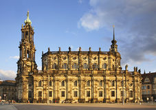 Katholische Hofkirche in Dresden. Germany Stock Image